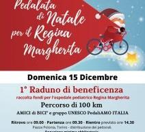 """Domenica 15 dicembre, """"Pedalata di Natale per il Regina Margherita"""""""