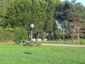 Un'immagine del cortile