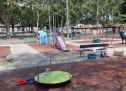 Area giochi rinnovata in piazza Sofia