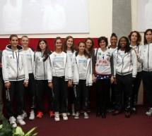 Incontro a Palazzo civico con le squadre di pallacanestro 'Fixi Piramis Torino' e 'Fiat Torino'