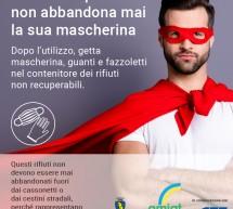 Smaltire correttamente mascherine e guanti, un gesto da supereroi. Al via la campagna di comunicazione
