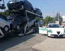 Sicurezza, sequestrate dalla Polizia Municipale  auto destinate all'estero