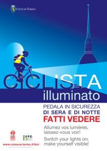 Ciclista illuminato