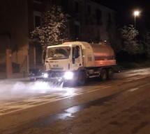 Lavaggio strade, dove si è intervenuto nella notte scorsa