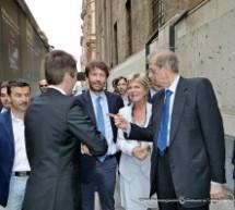 Il ministro Franceschini visita Cavallerizza, Torino Esposizioni e Campus Onu