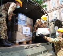Solidarietà, la Scuola di Applicazione dell'Esercito dona 3mila kg di generi alimentari