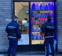 Controlli Covid della Polizia municipale a Porta Palazzo