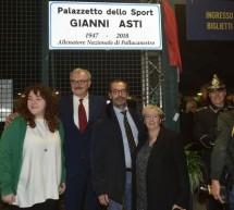 Il Palazzo dello sport di Parco Ruffini intitolato a Gianni Asti