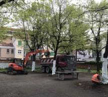 Al via i lavori di riqualificazione del giardino di via Challant