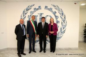 nella foto da sinistra Dario Arrigotti, Piero Fassino, Guy Ryder e Patricia O'Donovan
