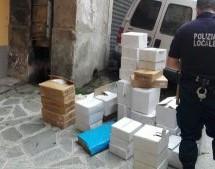 Polizia municipale, sequestrate 64mila buste di plastica non biodegradabili