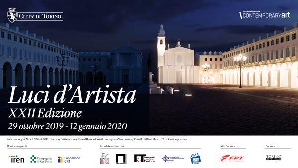 Luci d'Artista, Cuoghi ricorda Leonardo in piazza San Carlo
