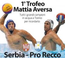 Pallanuoto, Pro Recco e Serbia in ricordo di Mattia Aversa