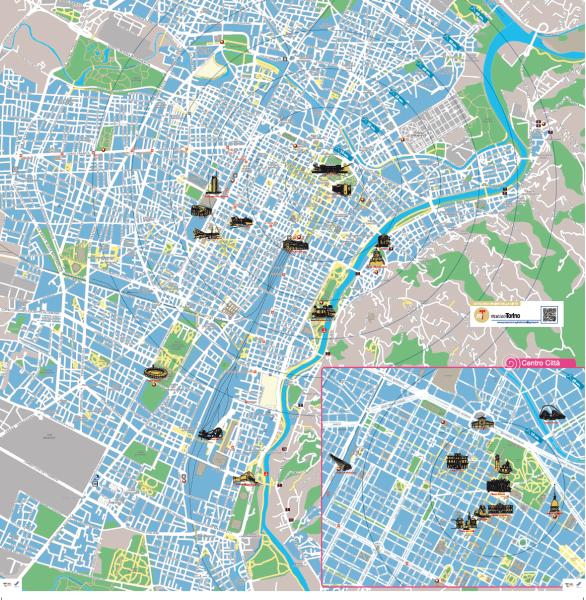 A piedi alla scoperta della citt torinoclick for Mappa della costruzione di casa