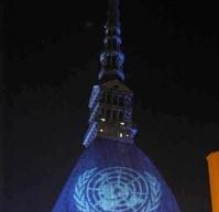 Illumina il mondo di Blu Onu – 70° anniversario delle Nazioni Unite