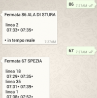 Anche con WhatsApp gli orari di tram e bus in tempo reale