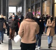 Covid e zona arancione: controlli e misure anti assembramento nelle strade dello shopping