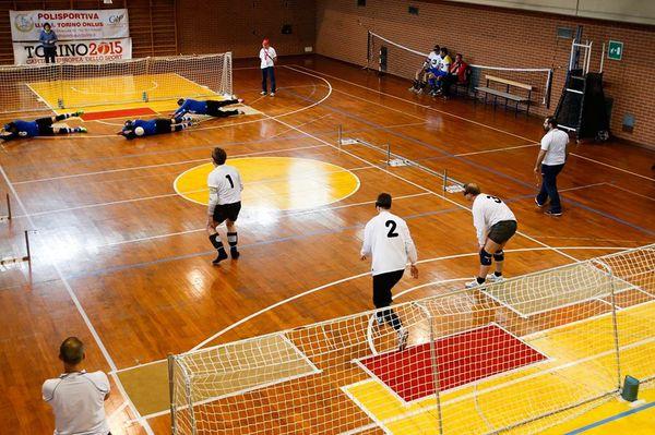 Una fase del Torneo di Torball. Foto di Mauro Ujetto
