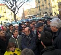 """Sit-in """"No alla 'ndrangheta"""" in via Di Nanni"""