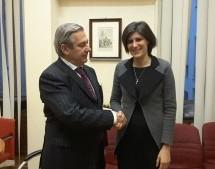 La sindaca riceve a Palazzo Civico l'ambasciatore argentino