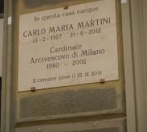 Scoperta una targa in memoria di Carlo Maria Martini
