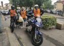 La mascherine arrivano su due ruote, con gli 'Angeli in moto'