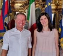 La sindaca Appendino ha incontrato l'astronauta Maurizio Cheli