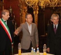 Ban Ki-moon a Palazzo Reale