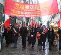Luci e colori del Capodanno cinese ieri a Torino