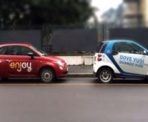 Il servizio di car sharing free floating a Car2go ed Enjoy