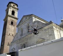 Un drone per filmare la Torino della Sindone