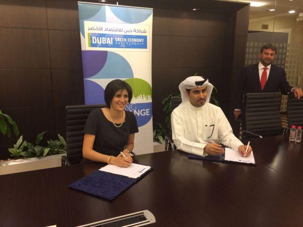 La sindaca Chiara Appendino e Fahad Al Gergawi, segretario generale della Dubai Green Economy Partnership