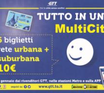 Gtt, dal 10 gennaio nuovo ticket multicity. 6 biglietti in uno a 10 euro