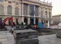 Manutenzione pavimentazioni lapidee, lavori in piazza Castello