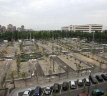 Un'area per i camper al parcheggio Caio Mario