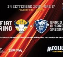 La Città concede il PalaRuffini gratuitamente per la partita benefica  Auxilium Cus Torino – Dinamo Sassari Official