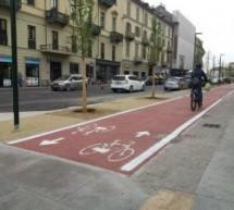 Pista ciclabile di via Nizza, approvato il progetto del tratto tra piazza Carducci e via Biglieri. Lavori per 300mila euro